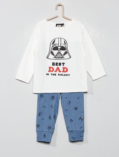 Pyjama bi-matière 'Star Wars'                             bleu Bébé garçon