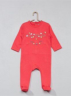 Pyjama brodé avec pieds - Kiabi