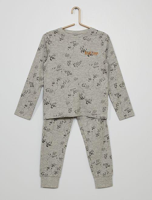 Pyjama 'carte'                                         gris