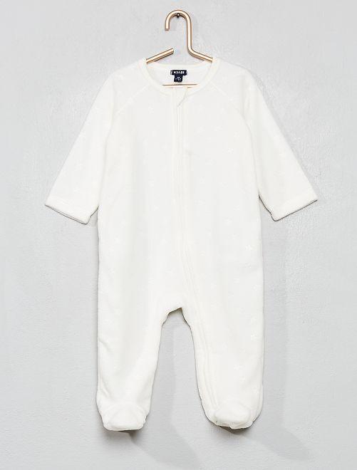 Pyjama chaud en polaire                                                                 blanc Bébé fille