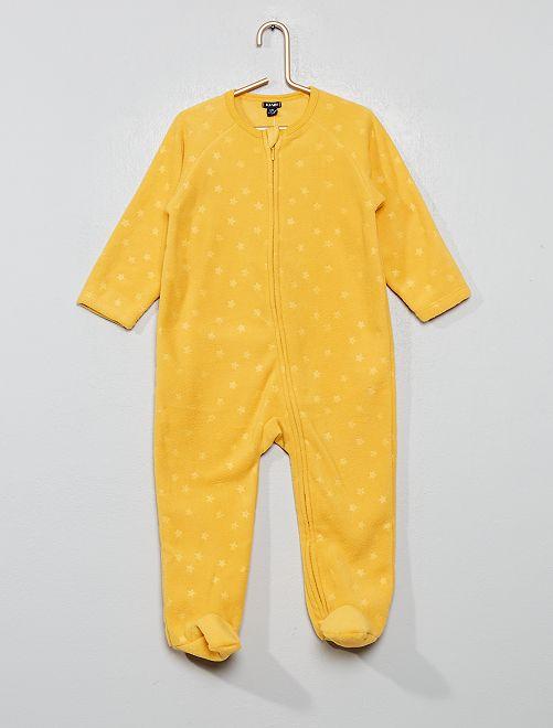 Pyjama chaud en polaire                                                                 jaune Bébé fille