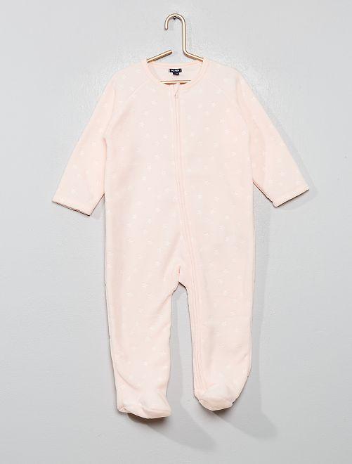 Pyjama chaud en polaire                                                     rose clair
