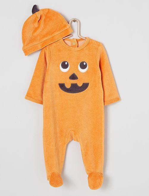 Pyjama 'citrouille' éco-conçu                             orange