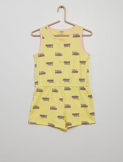 Pyjama combinaison                                         jaune
