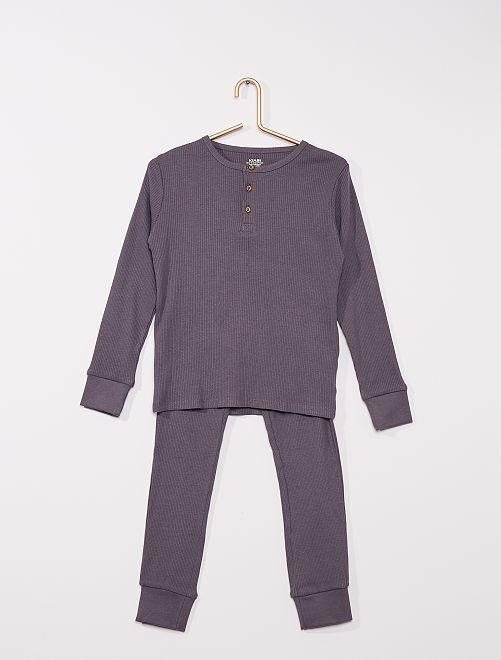 Pyjama côtelé                                         gris