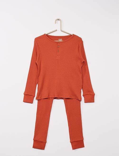 Pyjama côtelé                                         orange