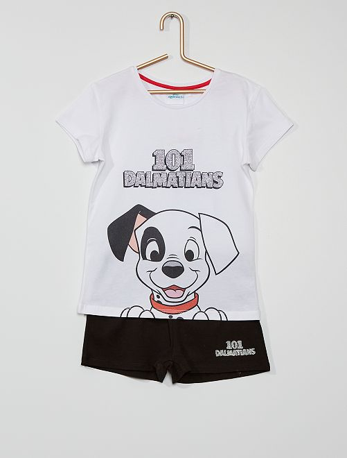 Pyjama court '101 dalmatiens'                             blanc/noir