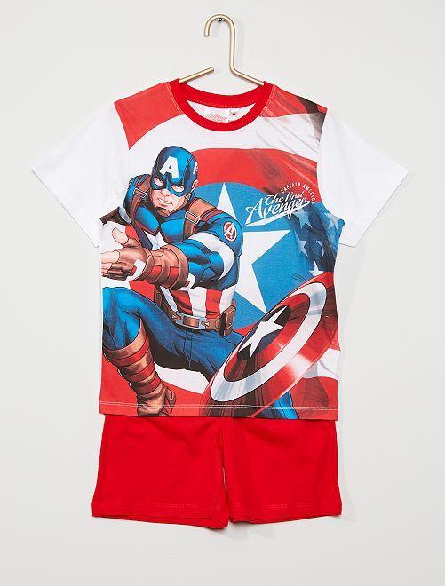 Pyjama court 'Avengers' de Marvel                                         BLANC