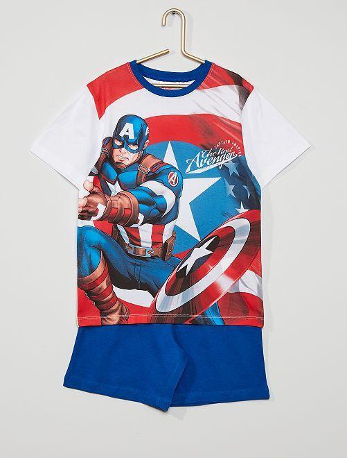 Pyjama court 'Avengers' de Marvel                                         blanc/bleu