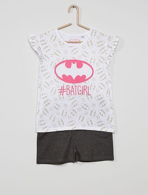 Pyjama court 'Batgirl'                             blanc/noir