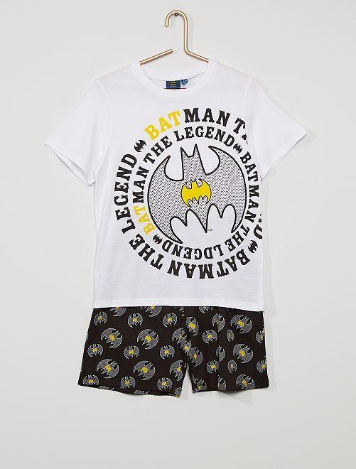 Pyjama court 'Batman'                     blanc/noir