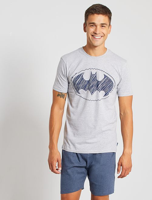 Pyjama court 'Batman'                             gris/bleu