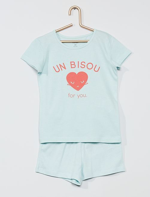 Pyjama court 'bisou'                                                                 bleu