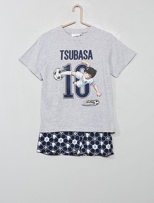 Pyjama court 'Captain Tsubasa'                                         gris chiné