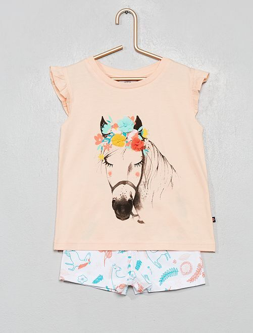 Pyjama court 'cheval'                                         corail