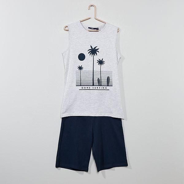 Pyjama court débardeur imprimé Garçon adolescent