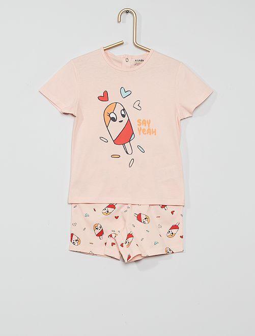 Pyjama court éco-conçu                                                                 rose