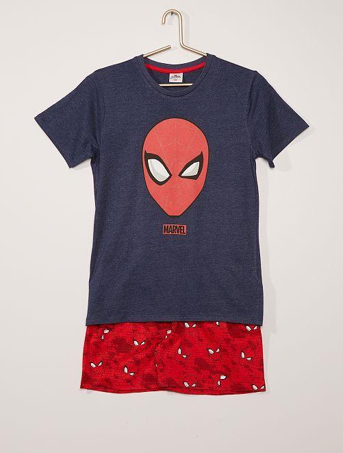 Pyjama court en coton 'Spider-Man' 'Marvel'                             bleu