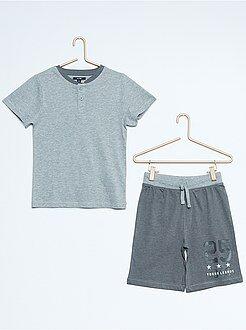 Garçon 3-12 ans Pyjama court en jersey bicolore