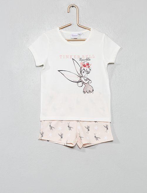 Pyjama court 'Fée Clochette'                             écru / rose Fille