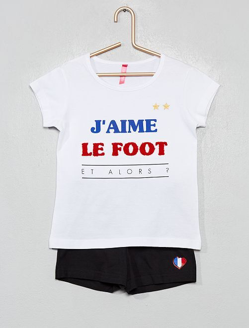 Pyjama court 'foot'                             blanc/noir