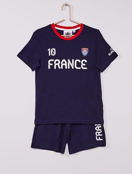 Pyjama court 'France' 'UEFA'                             bleu marine