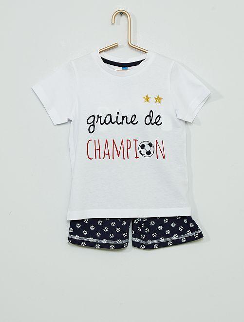 Pyjama court 'graine de champion'                             blanc