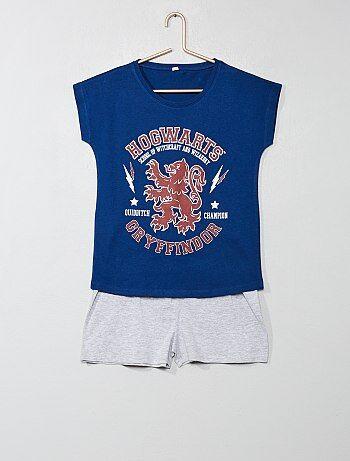 01069c8dbdbcb Pyjama court Vêtements fille | bleu | Kiabi