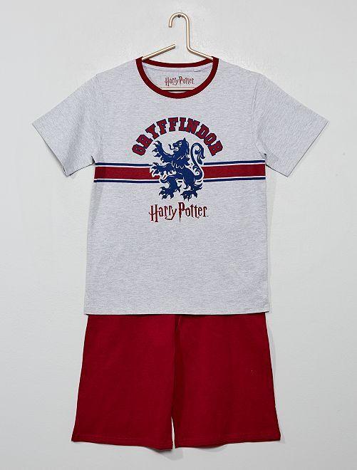 Pyjama court 'Harry Potter'                             rouge/gris