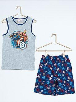 Garçon 3-12 ans Pyjama court imprimé 'Avengers'