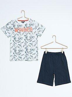 Pyjama, peignoir - Pyjama court imprimé 'skate'