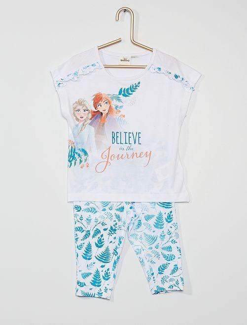 Pyjama court 'La Reine des Neiges'                                         blanc