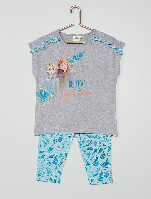 Pyjama court 'La Reine des Neiges'                             gris/bleu