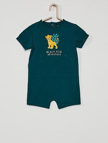 Pyjama court 'Le Roi Lion' éco-conçu