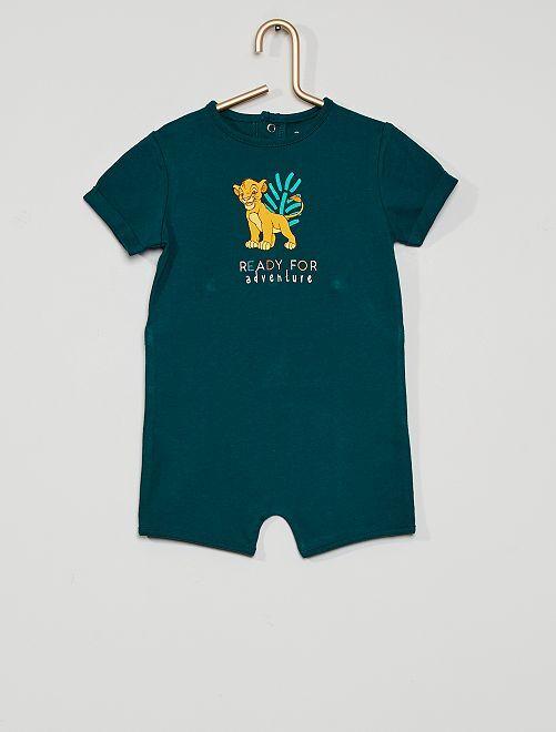 Pyjama court 'Le Roi Lion' éco-conçu                             vert