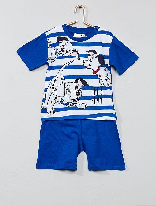 Pyjama court 'Les 101 Dalmatiens'                     bleu Bébé garçon