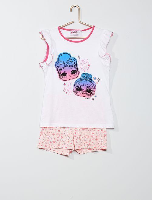 Pyjama court 'L.O.L Surprise !'                                         blanc