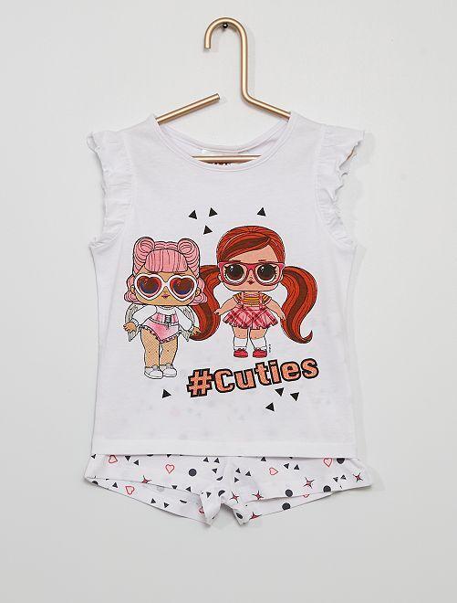 Pyjama court 'LOL Surprise'                             blanc