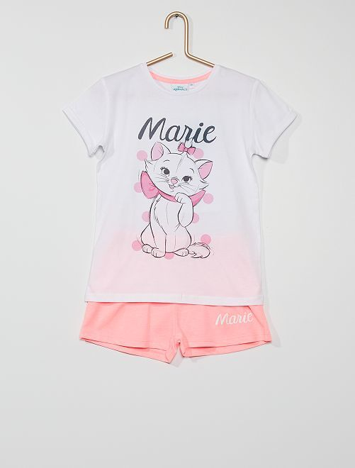 Pyjama court 'Marie'                             blanc/rose