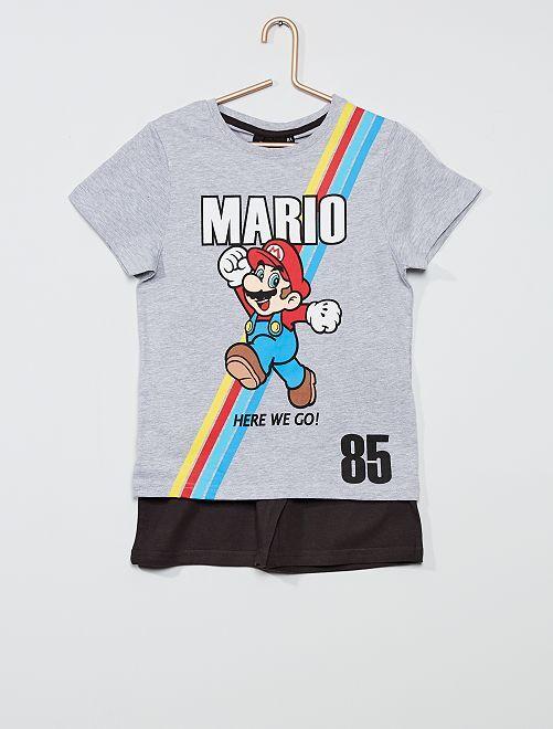 Pyjama court 'Mario'                             gris