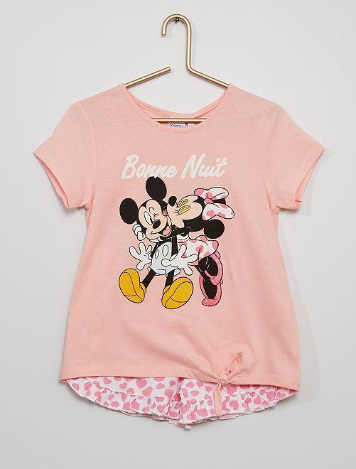 Pyjama court 'Mickey et Minnie'                                         rose/blanc