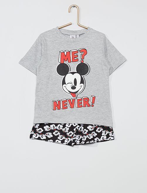 Pyjama court 'Mickey Mouse' de 'Disney'                     gris/noir
