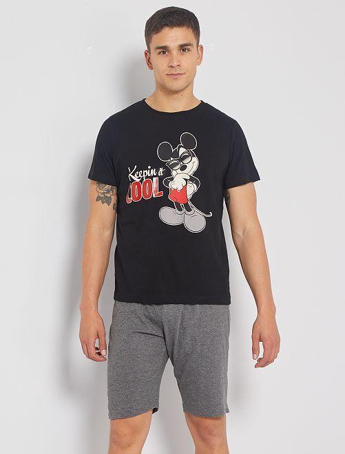 Pyjama court 'Mickey'                                         noir
