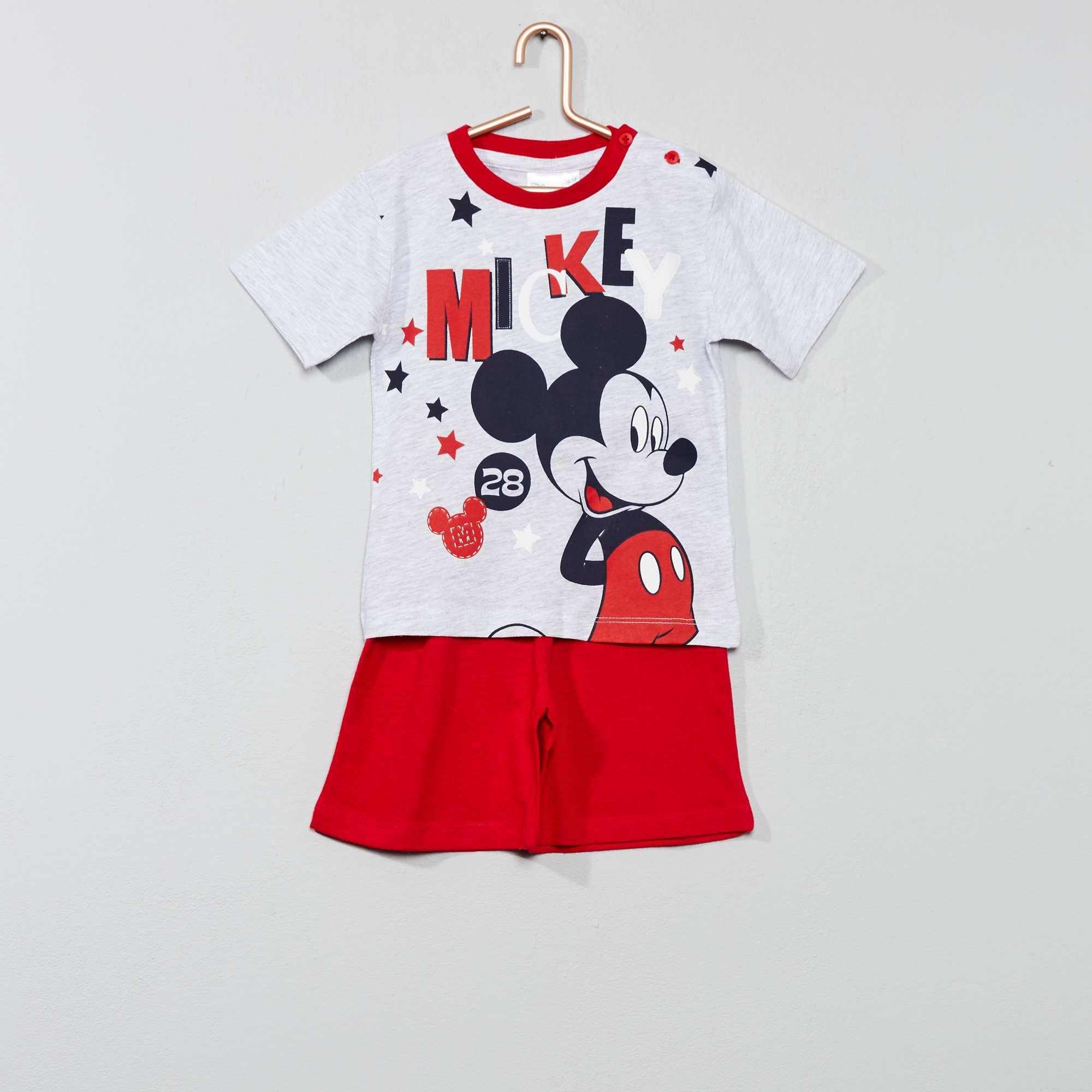 c5e1c79c374c0 Pyjama court 'Mickey' Bébé garçon - rouge - Kiabi - 10,00€