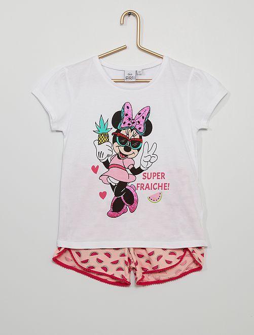 Pyjama court 'Minnie'                             blanc/rose