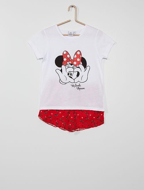Pyjama court 'Minnie'                     blanc/rouge