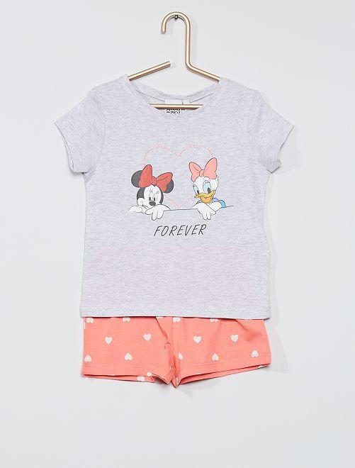 Pyjama court  'Minnie'                                         gris/rose