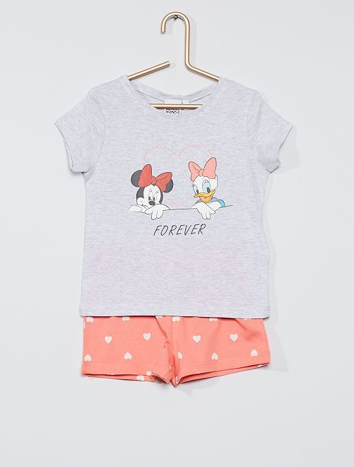 Pyjama court  'Minnie'                                         gris/rose