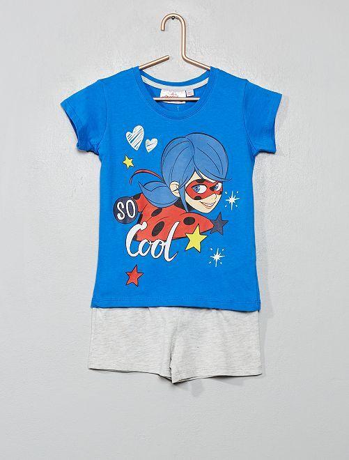 Pyjama court 'Miraculous'                                                     bleu/gris