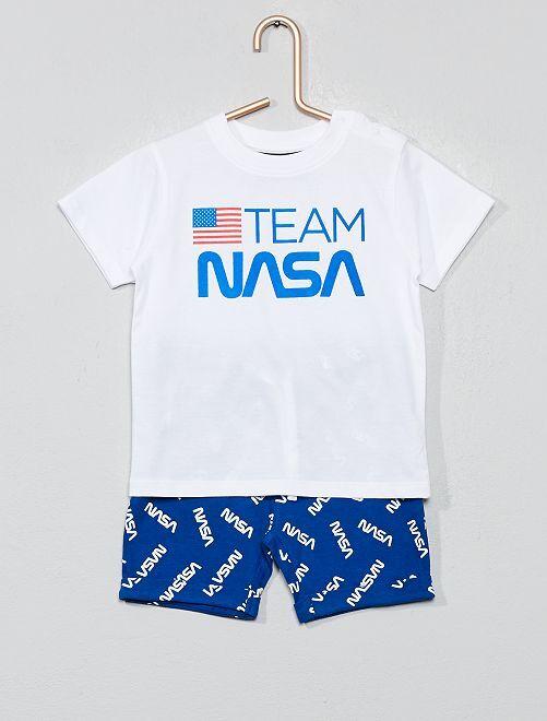 Pyjama court 'NASA'                             blanc Bébé garçon